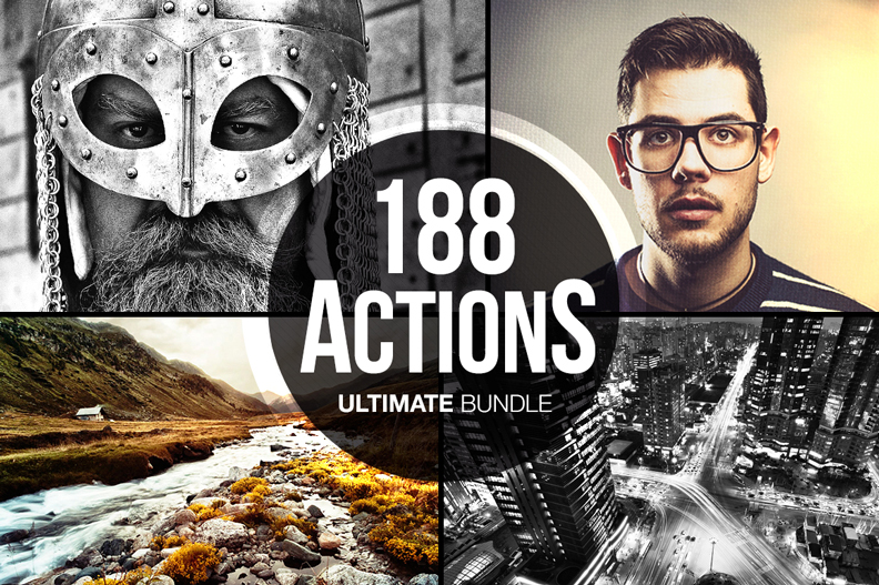 188 ultimate photoshop actions bundle