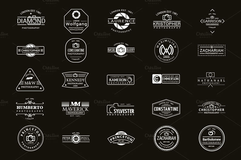 25 photographer logos