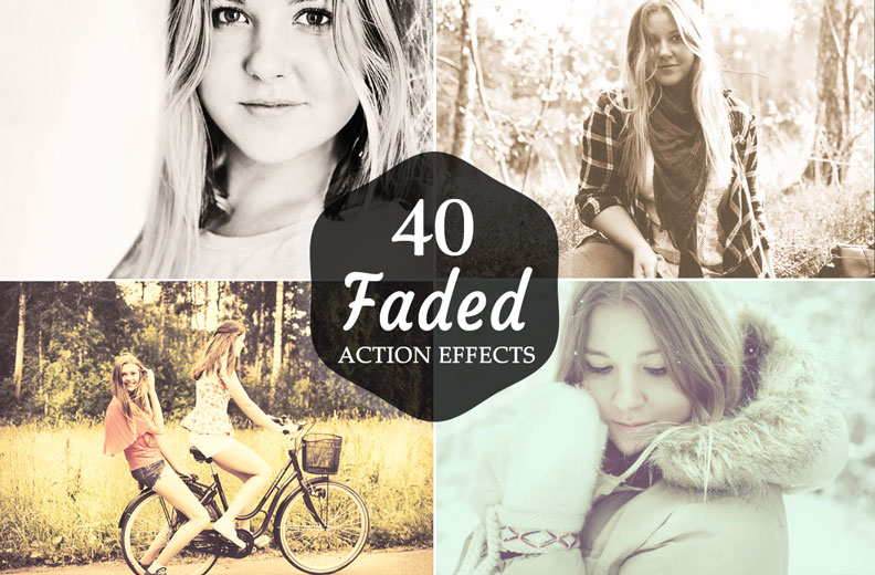40 faded photoshop actions