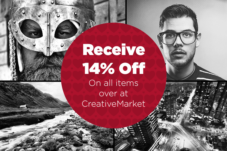 Sale! Get 14% Off Photoshop Actions, WordPress Themes, Logos, Patterns & More for Photographers