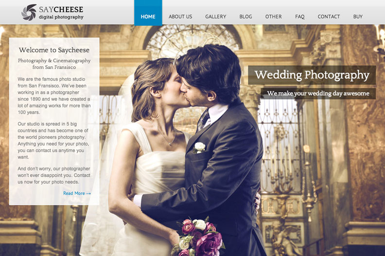 Saycheese WordPress Theme