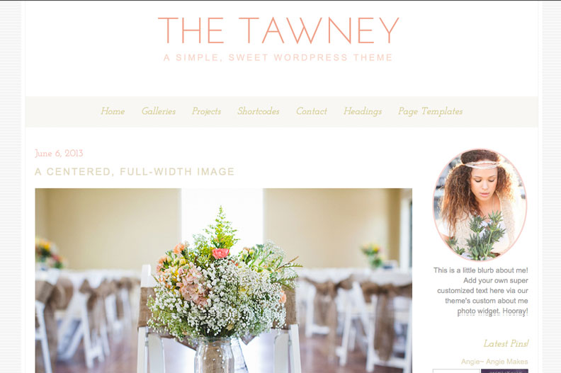 The Tawney WordPress Theme