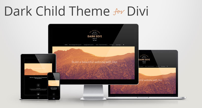 Free Dark Child Theme for Divi 2.0
