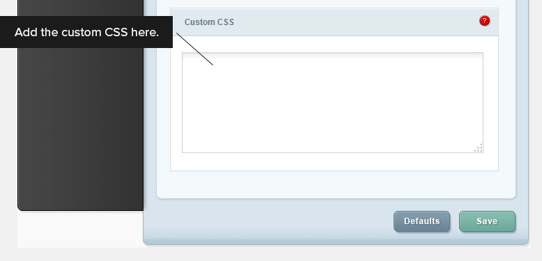 Add Custom CSS Here
