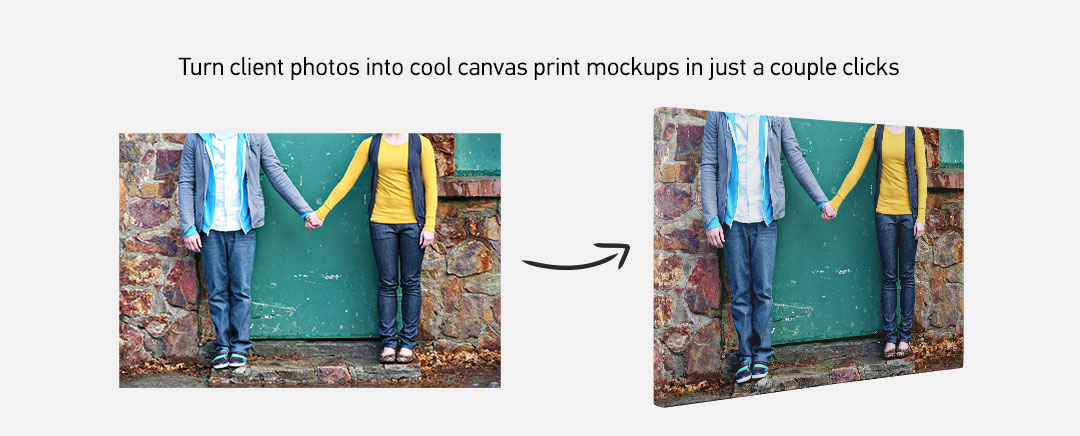 Convert your photos into cool canvas mockup graphics in a few clicks
