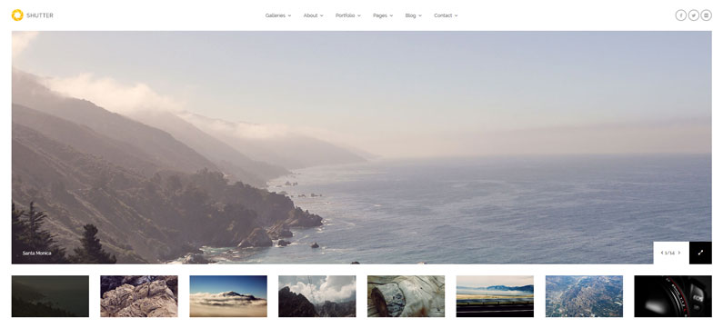 Shutter - photographer WordPress theme