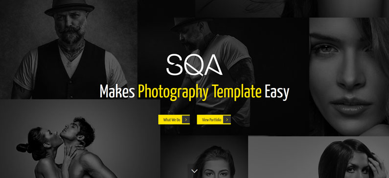 SQA - photographer WordPress theme