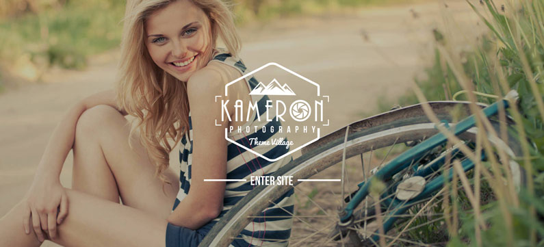 Kameron - photographer WordPress theme