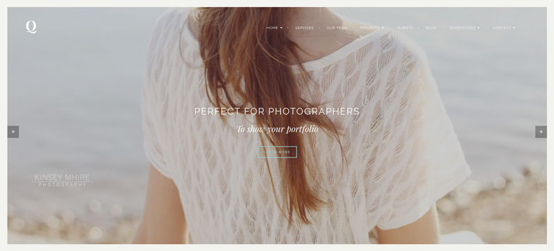 Quantum - photographer WordPress theme