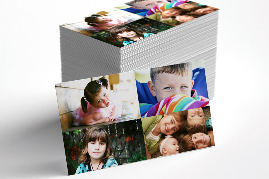 Photography Business Card 4 image collage Template