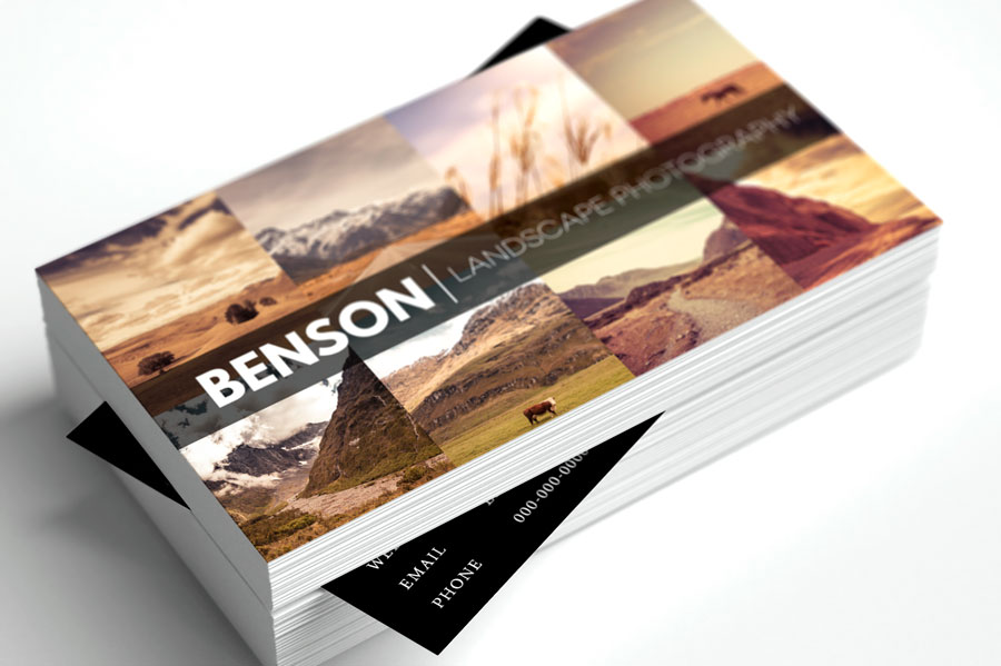 13 free business card templates for photographers reheart Choice Image
