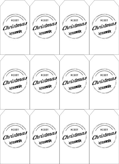 12 Free Printable Christmas Tags