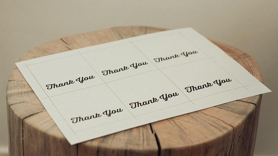 Printable tags printed out