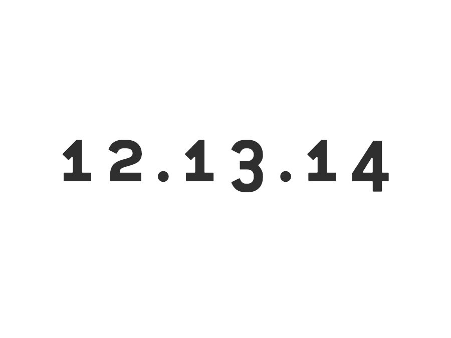 Happy Sequential Date Day!