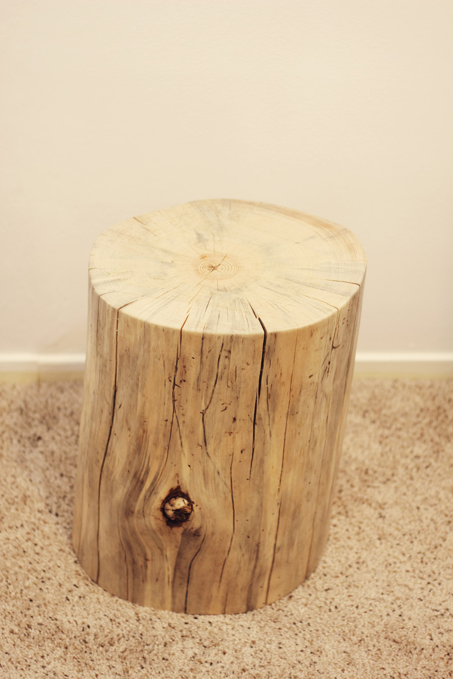 Tree stump sidetable