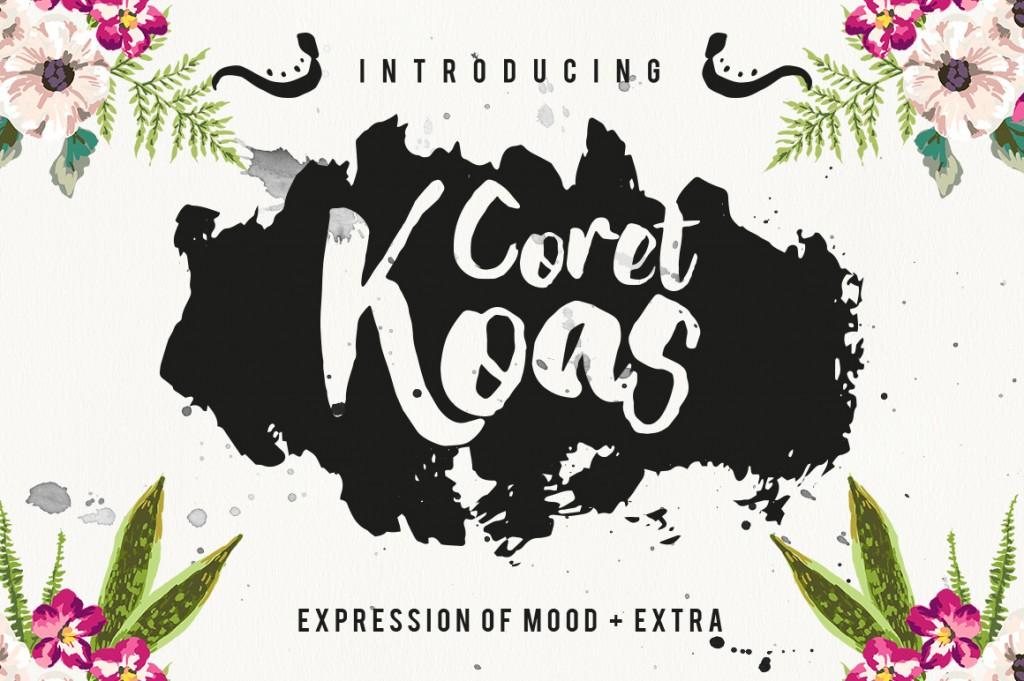 Coret Kaos Brush Script
