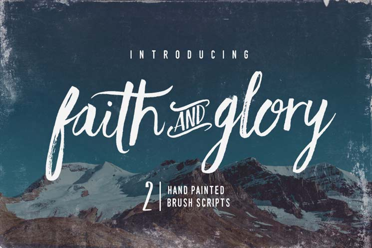 Faith & Glory brush script