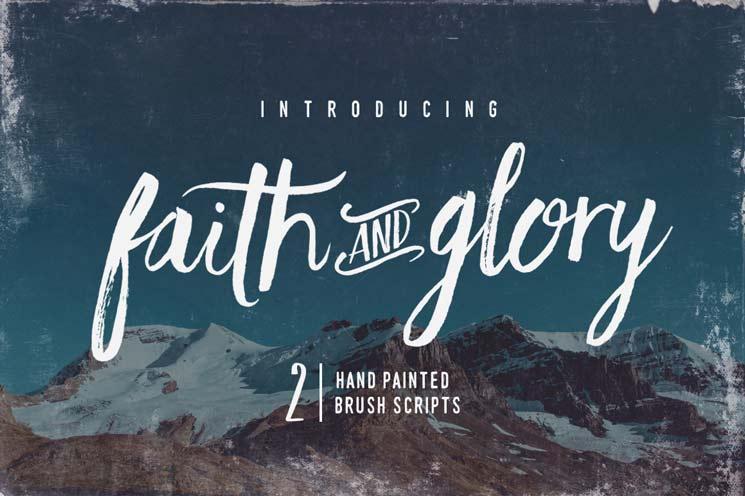 Faith & Glory brush script