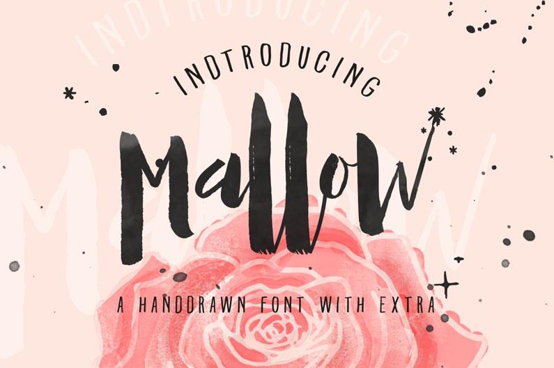 Meet Mallow & 33 other brush script fonts.