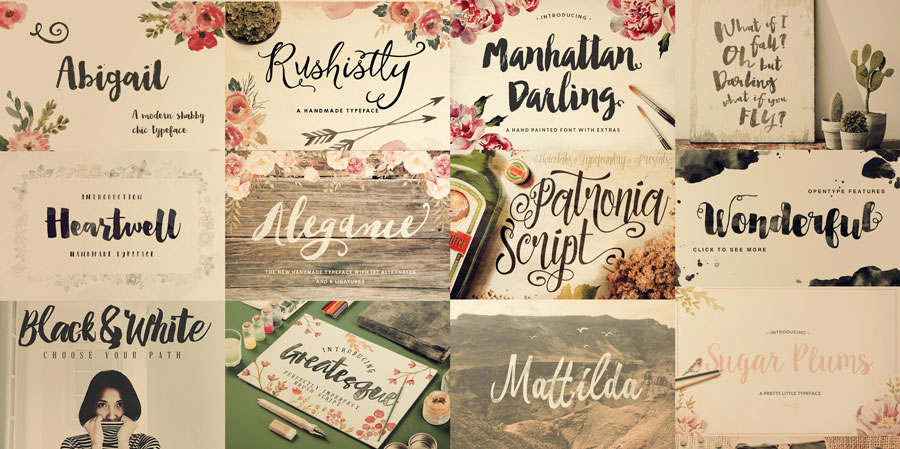 53 Brush Script Fonts – Some Free