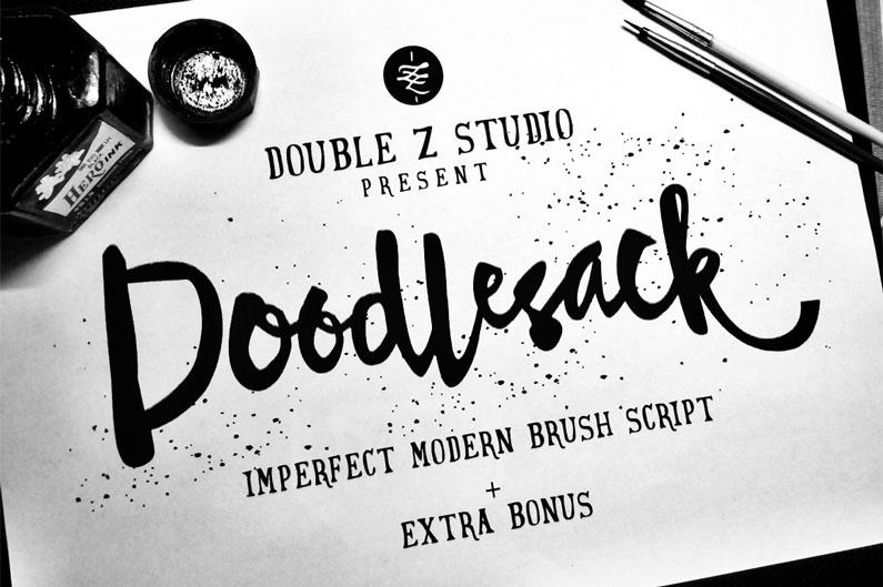 Doodlestack script font