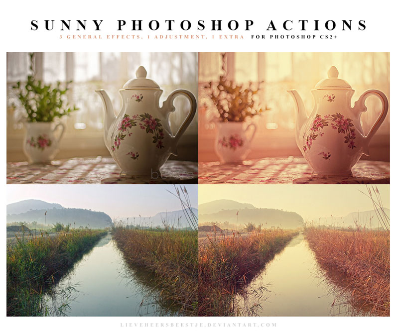 The best free photoshop actions for photographers - Sunny Photoshop Actions