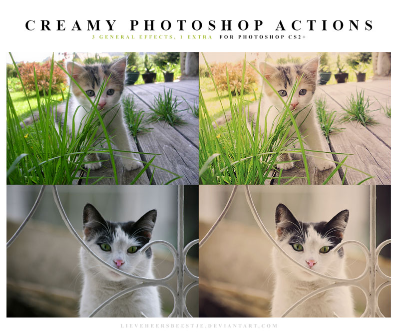 The best free photoshop actions for photographers - Creamy Photoshop Actions