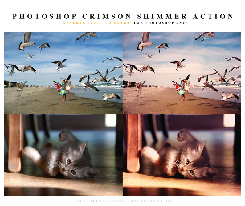 The best free photoshop actions for photographers - Crimson Shimmer Photoshop Actions
