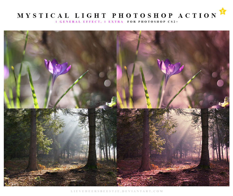 The best free photoshop actions for photographers - Mystical Light Photoshop Actions