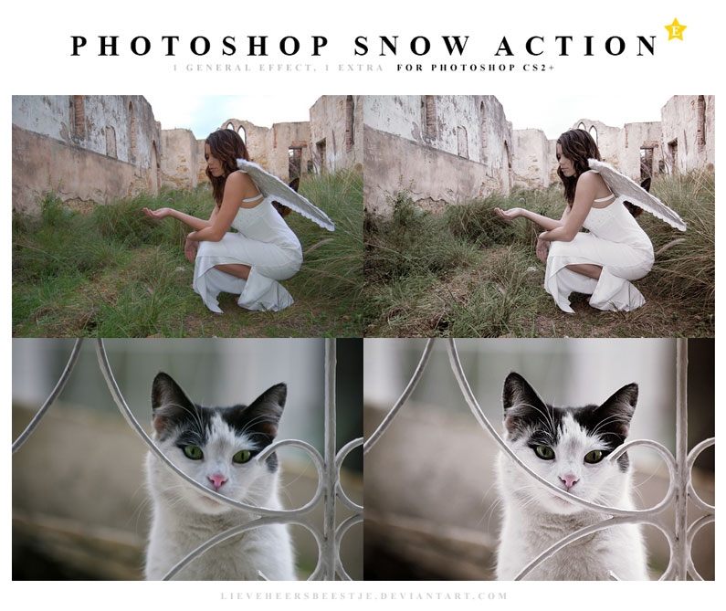 The best free photoshop actions for photographers - Snow Photoshop Actions
