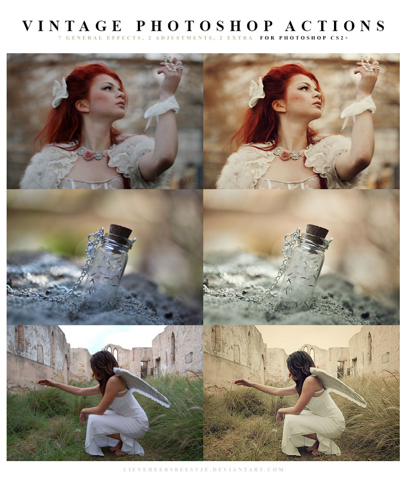 The best free photoshop actions for photographers - Vintage Photoshop Actions