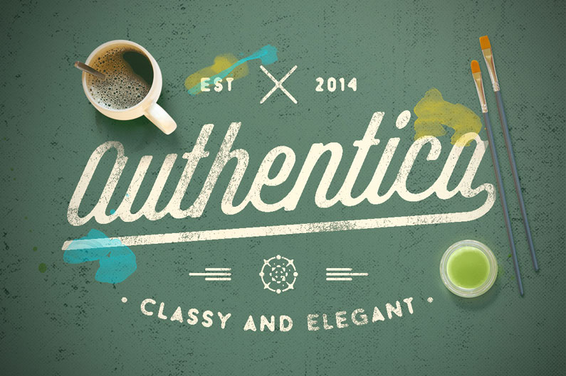 Authentica- 14 Retro-Style, Vintage-esque and Hipster Fonts