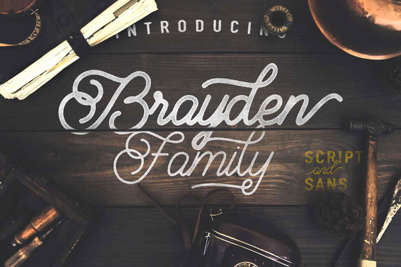 Brayden - 14 Retro-Style, Vintage-esque and Hipster Fonts