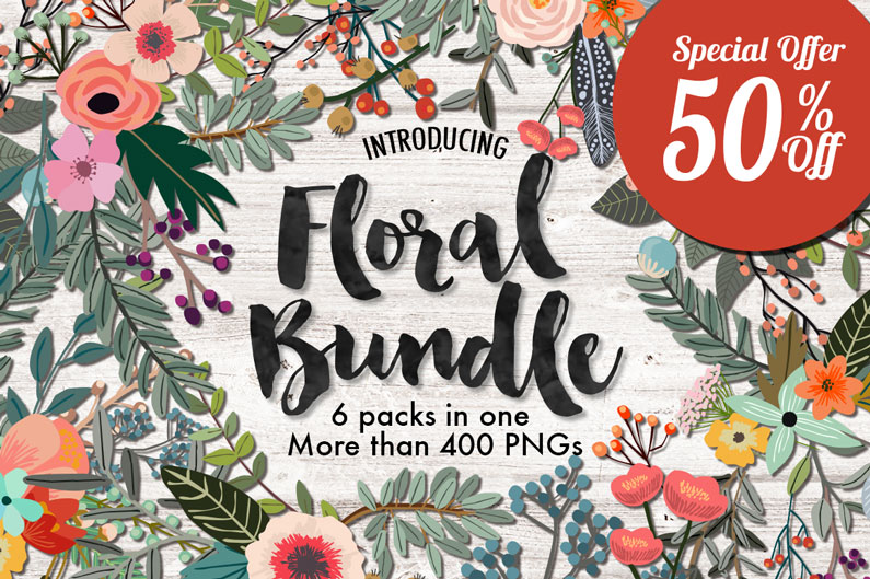 A great floral bundle from Mia Charrow