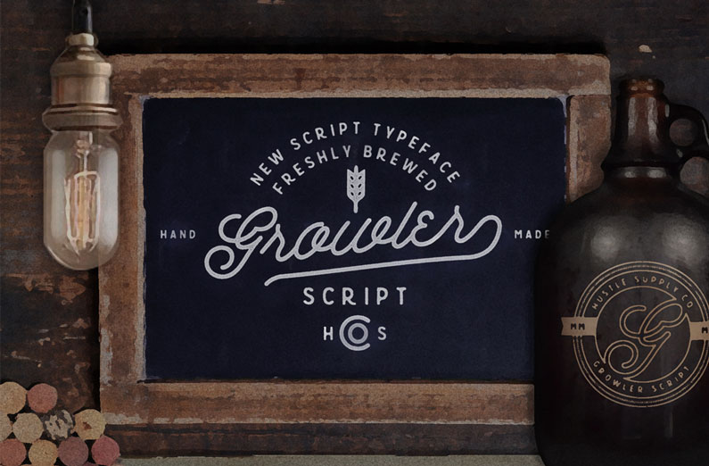 Growler script 14 retro style vintage esque and hipster fonts