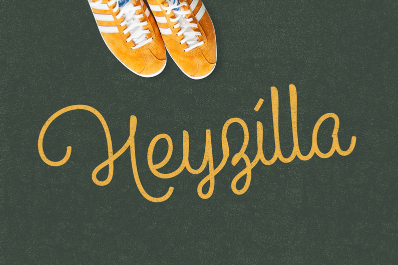Heyzilla - 14 Retro-Style, Vintage-esque and Hipster Fonts