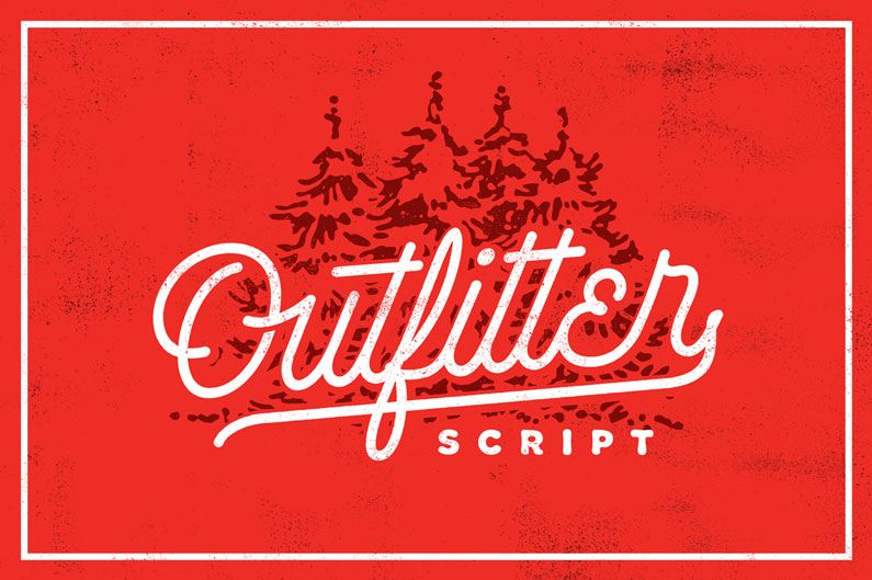 Outfitter script font - 14 Retro-Style, Vintage-esque and Hipster Fonts