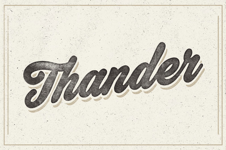 Thander Script - 14 Retro-Style, Vintage-esque and Hipster Fonts
