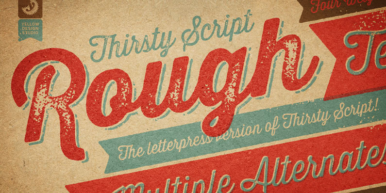 Thirsty Rough - 14 Retro-Style, Vintage-esque and Hipster Fonts