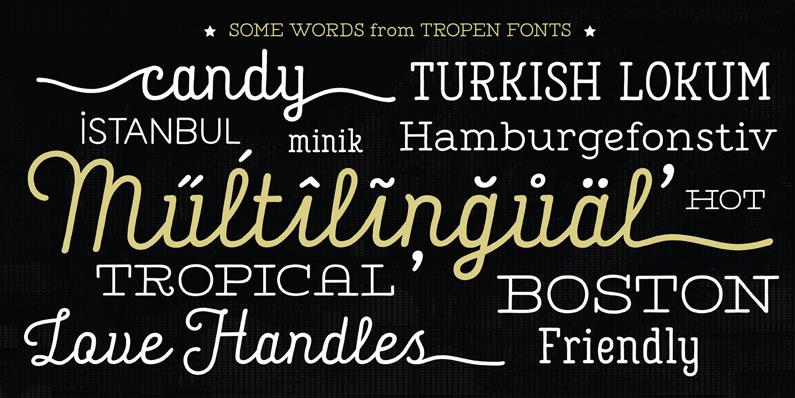 Tropen Script - 14 Retro-Style, Vintage-esque and Hipster Fonts