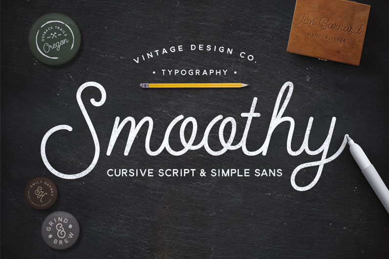Smoothy Script - 14 Retro-Style, Vintage-esque and Hipster Fonts