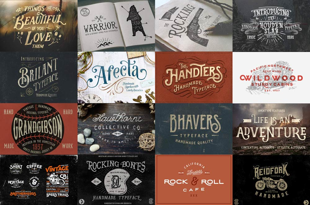 27 Hand Drawn Fonts – Some Free