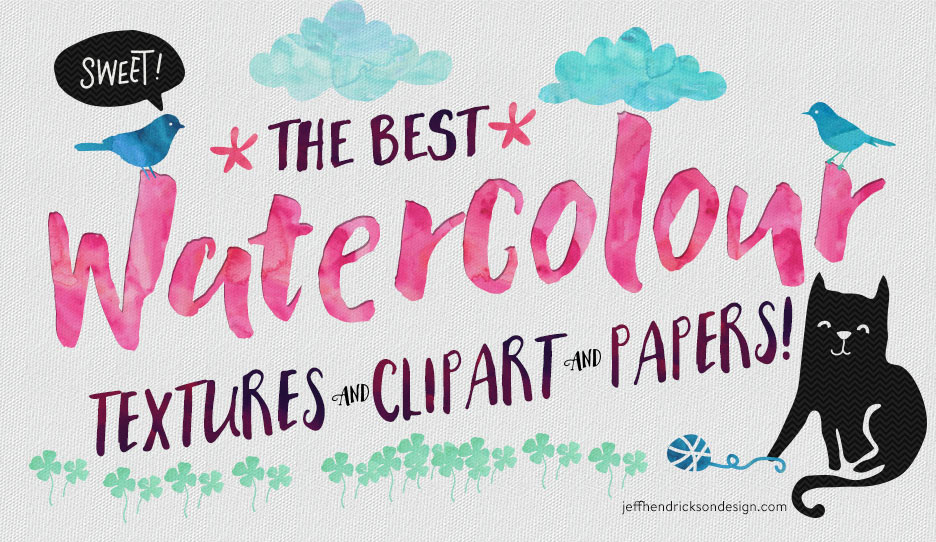 The Best Watercolour Textures Clipart & Papers