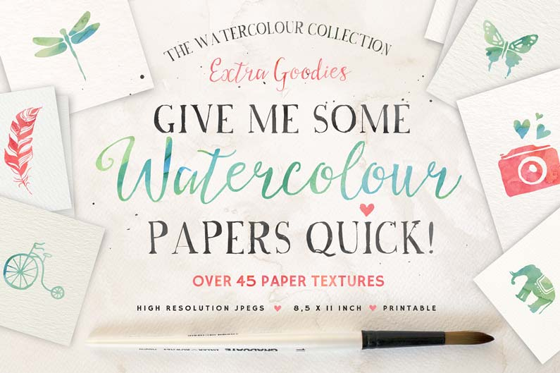 Watercolour Paper Textures Pack