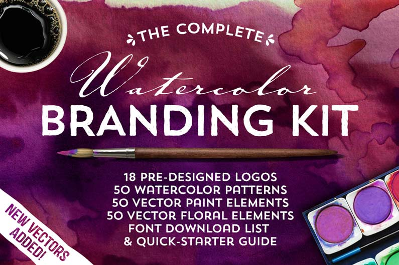 Watercolor Branding Kit