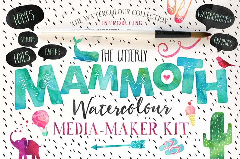 Mammoth Watercolour Pack