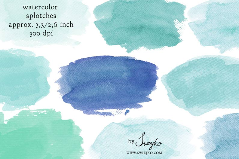 Watercolour Splotches