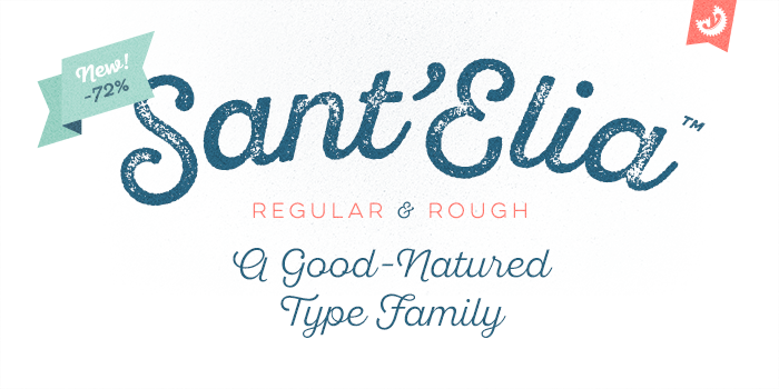 Sant'Elia font – 5 Weights Free