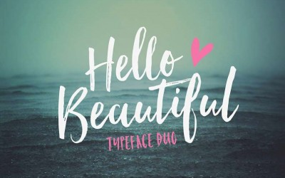 Hello Beautiful – A Lovely New Brush Font Duo
