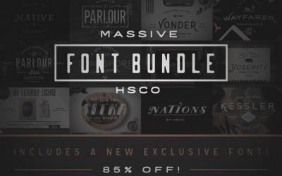12 Popular Fonts – 85% Off
